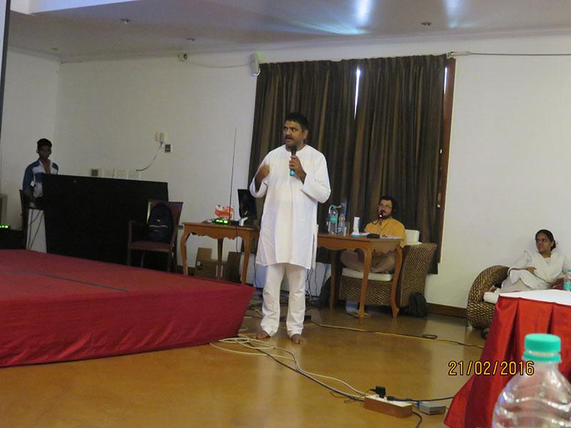 Balaji speaking