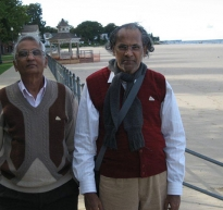 On the Rochester shores of Lake Ontario, Guruji & SK