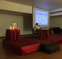 Retreat in Progress-Dr Sankara Teaching